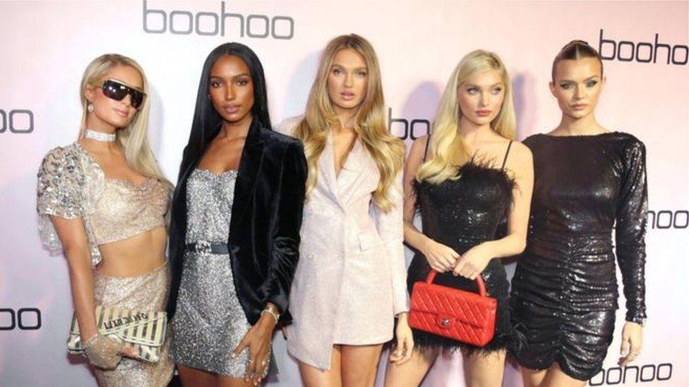 Models wearing Boohoo clothes
