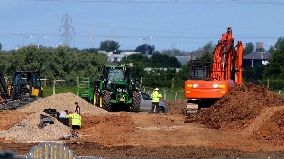 Fracking site Lancashire