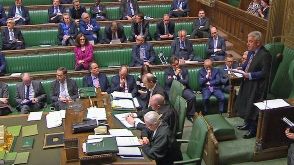 John Bercow speaking in the House of Commons