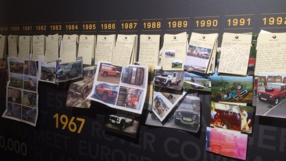 Land Rover Defender memory wall