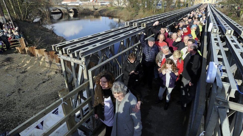 New footbridge in Tadcaster