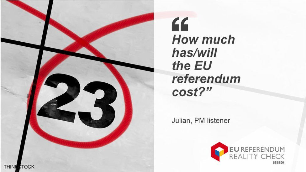 """Julian asking: """"How much has/will the EU referendum cost?"""""""