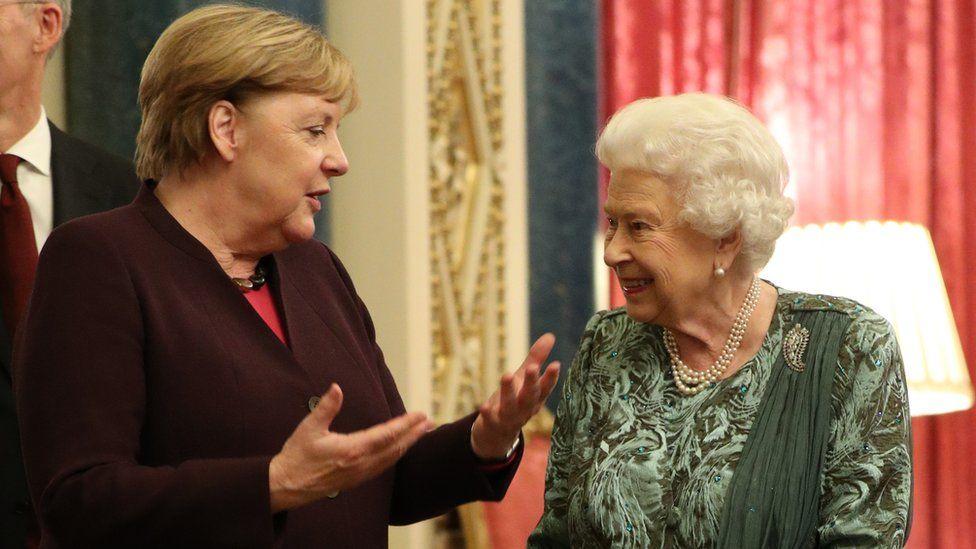 Angela Merkel and the Queen