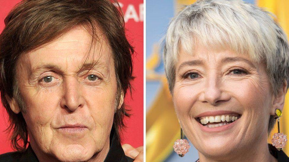 Sir Paul McCartney and Dame Emma Thompson