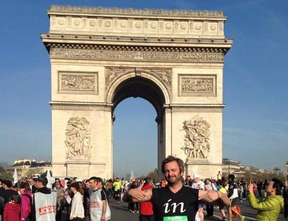 A member of the James Walker 100 team completes the Paris Marathon