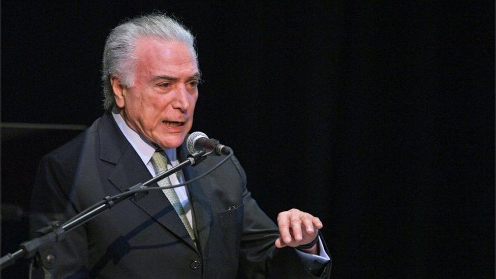 Brazilian President Michel Temer talks during an event to promote investment in renewable energy in Rio de Janeiro, Brazil on September 27, 2018