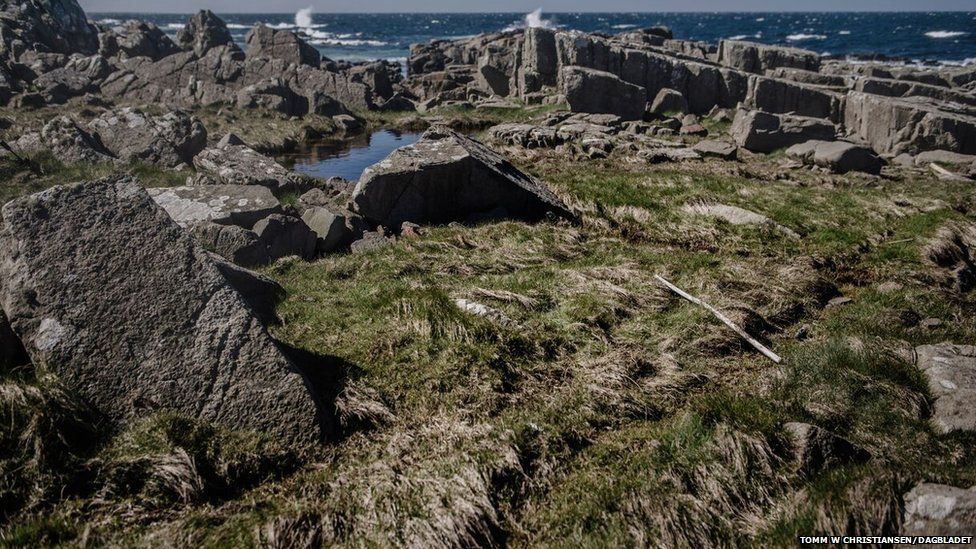Coastline in the south of Norway where the wetsuit with human remains was found