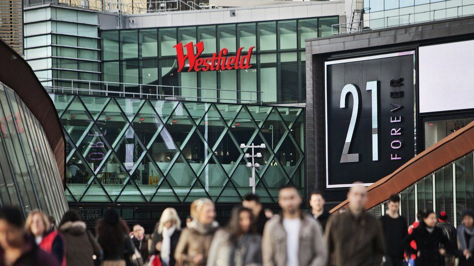 Westfield shopping centre in Stratford
