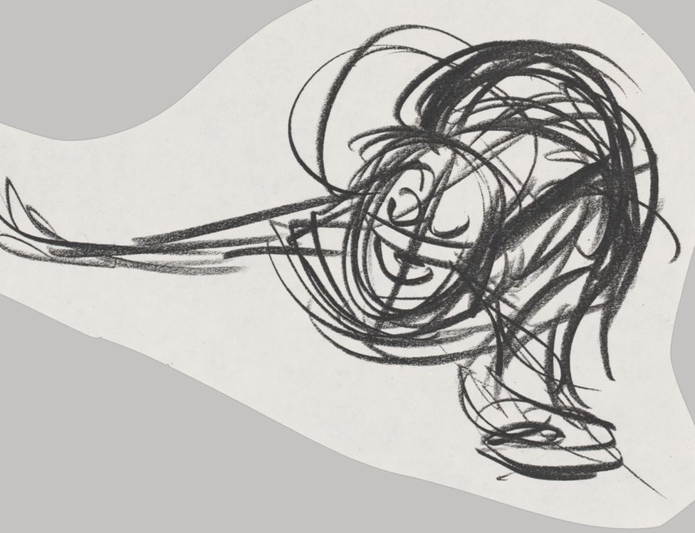 Early sketch of the Little Mermaid
