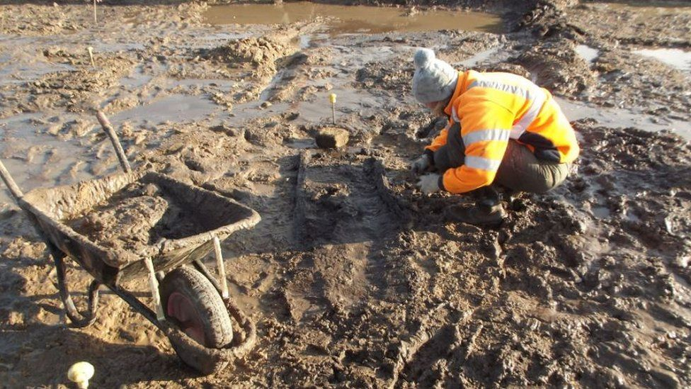 Archaeologist at Great Ryburgh in Norfolk