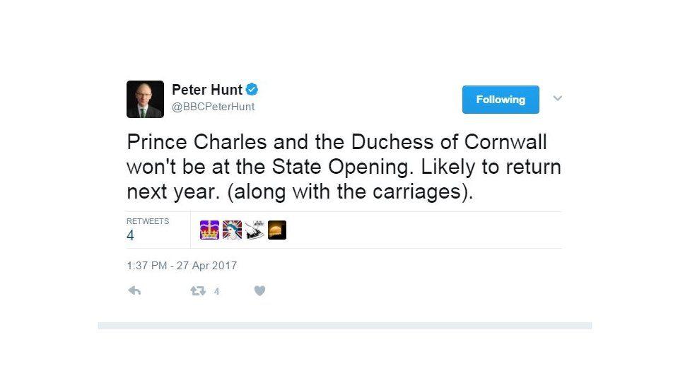 Peter Hunt tweet