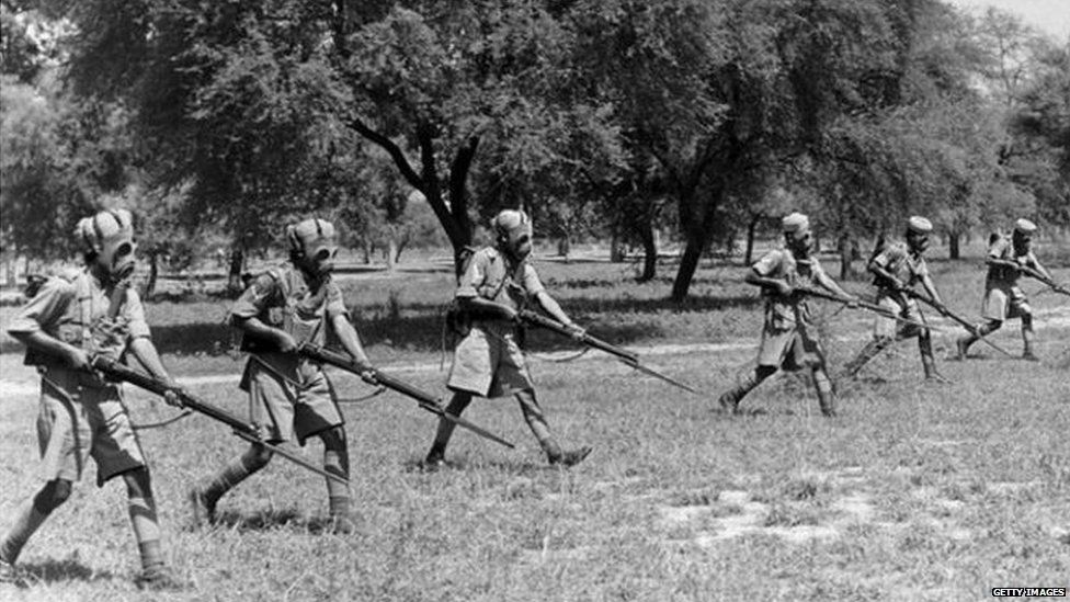 More than two million Indian soldiers participated in World War Two