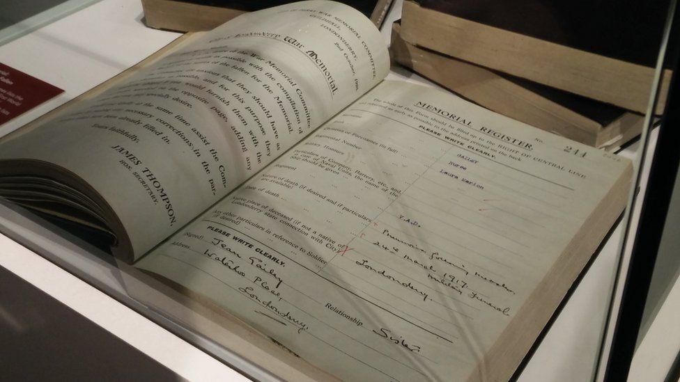 war memorial book