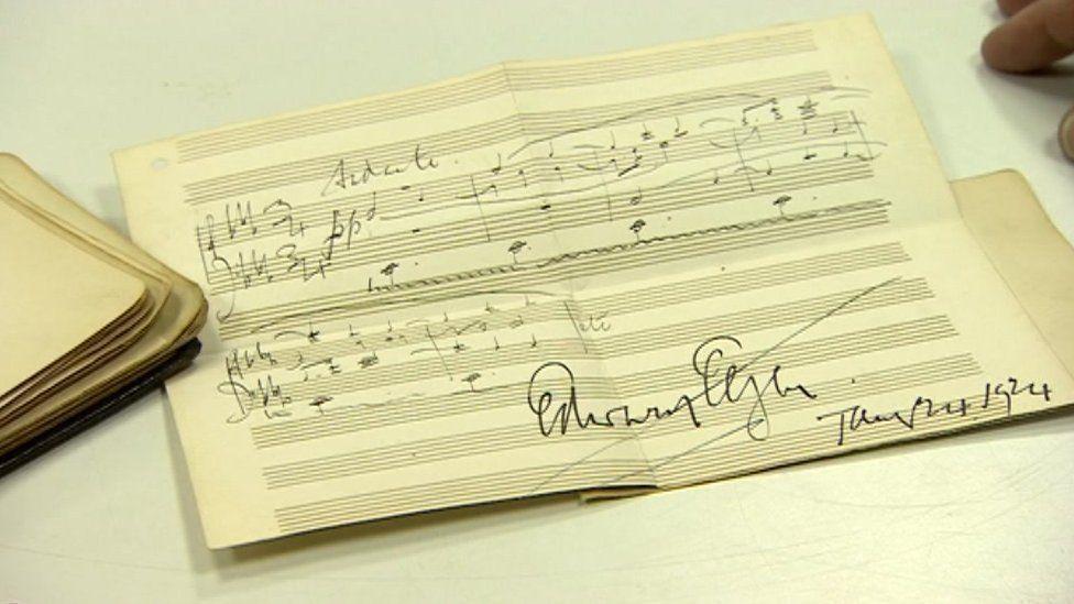 Elgar's music found in an autograph book
