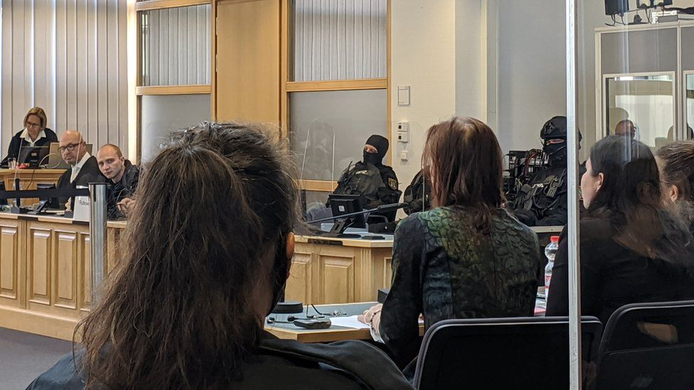 Witnesses give evidence at the trial in Magdeburg