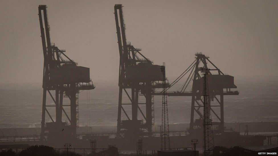 Port Talbot cranes