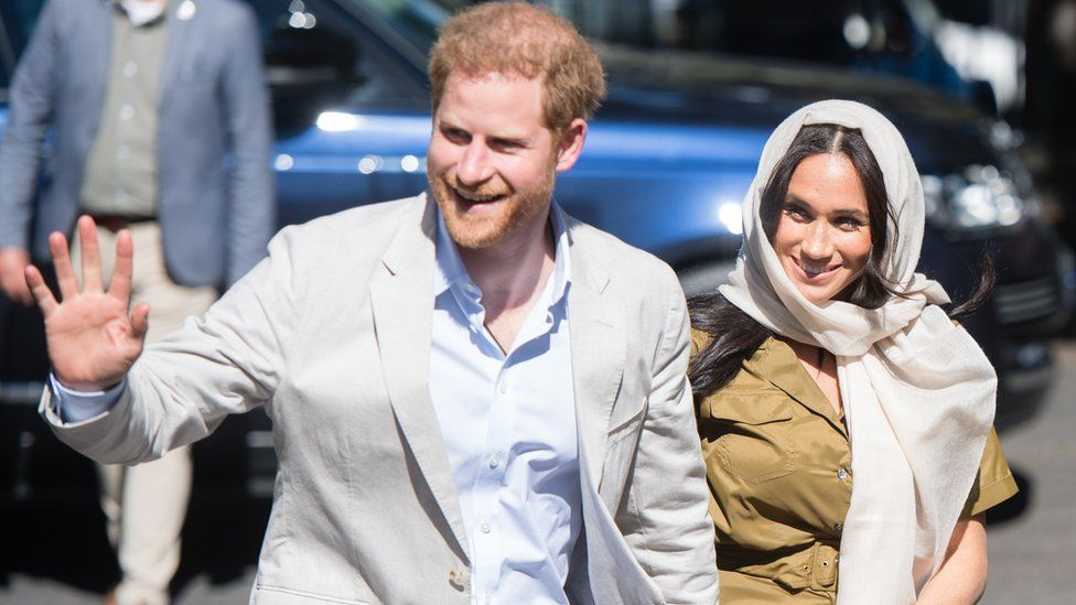 The Duke and Duchess of Sussex arrive at South Africa's oldest mosque