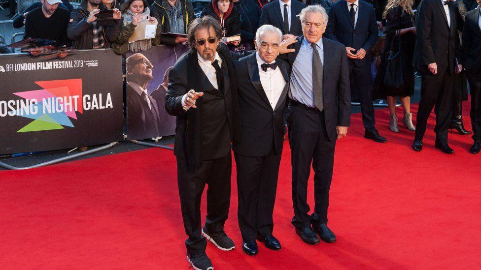 Al Pacino, Martin Scorsese and Robert De Niro at the closing night of last year's BFI London film festival