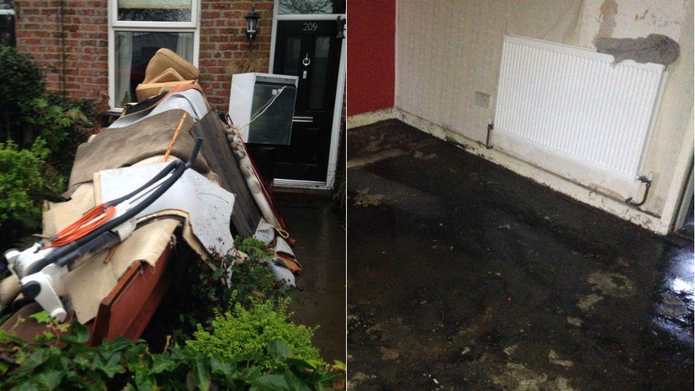 Flood damage in Bury