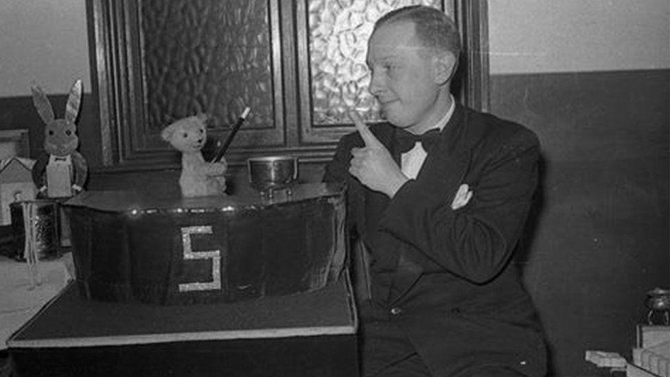 Earliest photo of Sooty and Harry Corbett