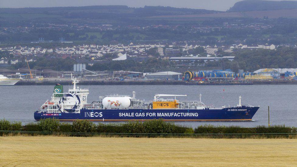 shale gas shipment