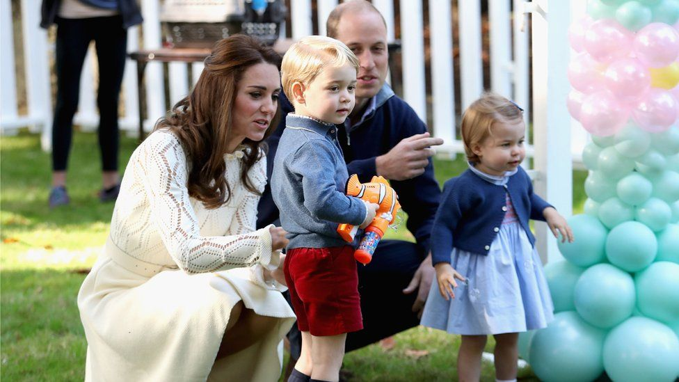 The royal children attended a party during the Canada tour