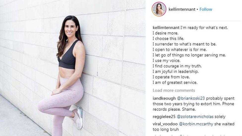 Kelli Tennant's Instagram page