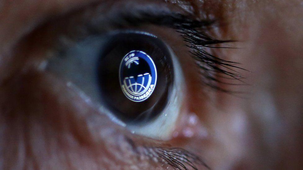 GRU symbol reflected in an eye