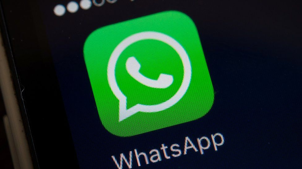 A screen shot of the popular WhatsApp smart phone application