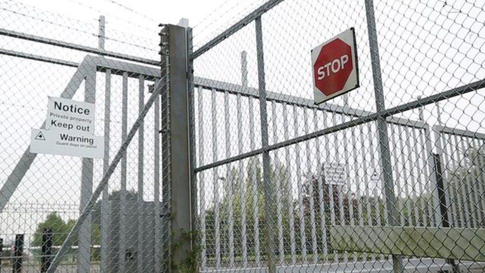 Gates at Yarl's Wood