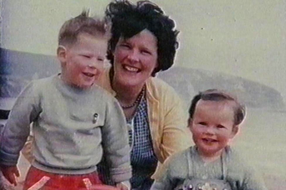 Anthea with her two eldest children, Jonathan and Christine
