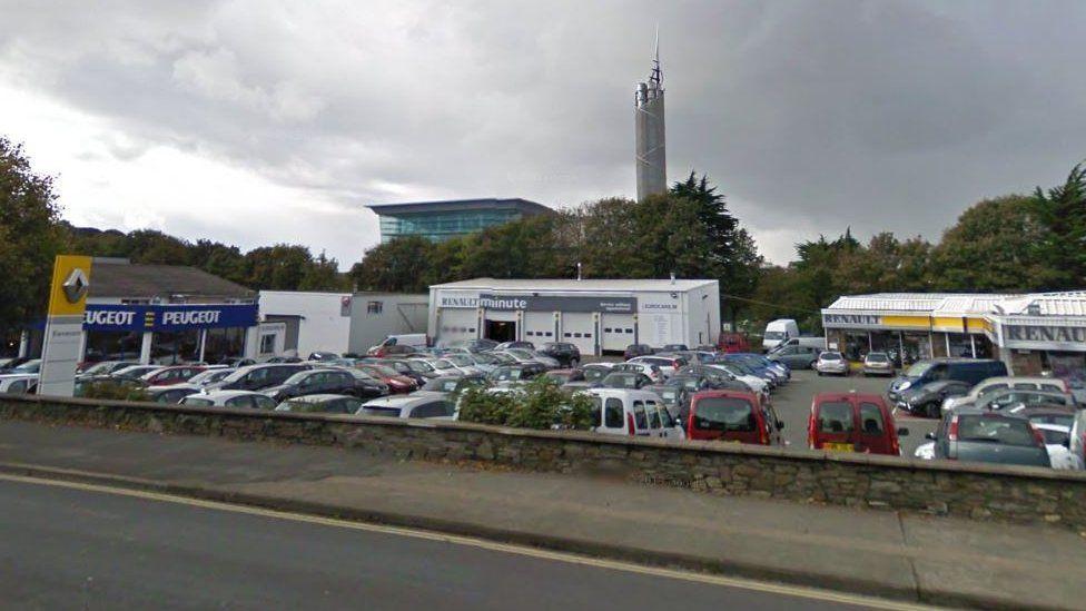Car dealership on Peel Road, Douglas
