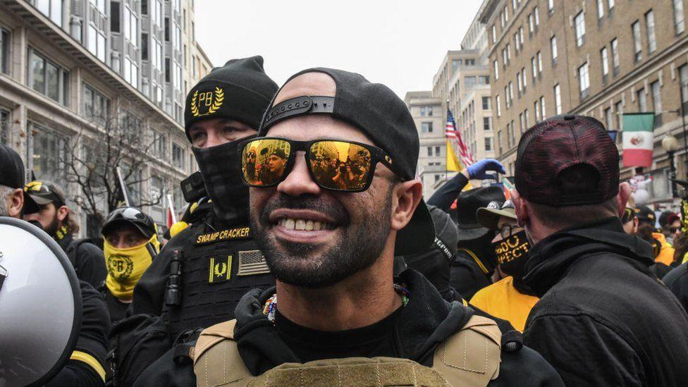 Enrique Tarrio, leader of the US far-right Proud Boys