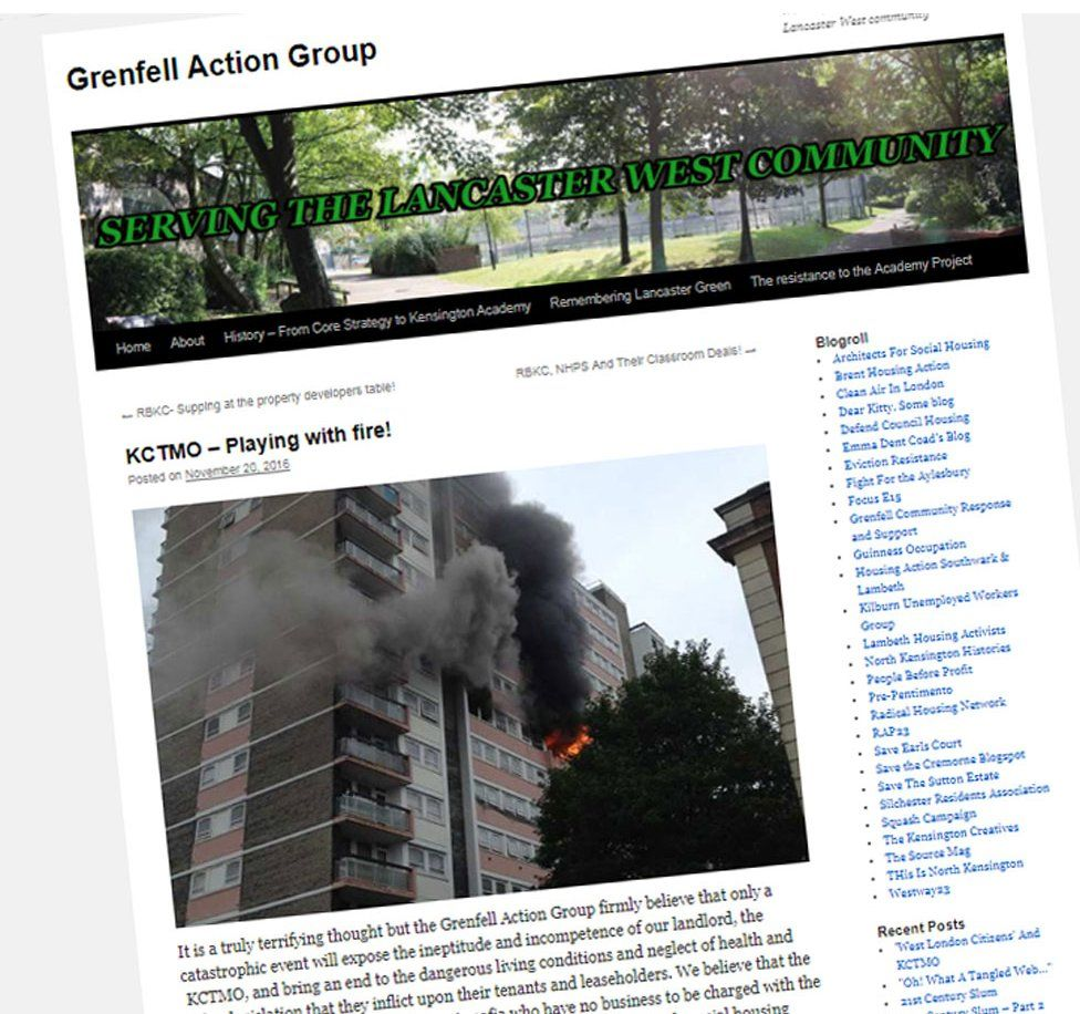 Grab from Grenfell Action Group blog
