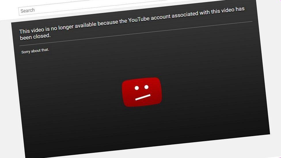 YouTube error message
