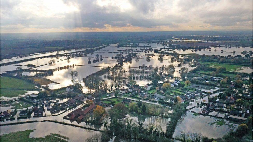 flood water at Fishlake