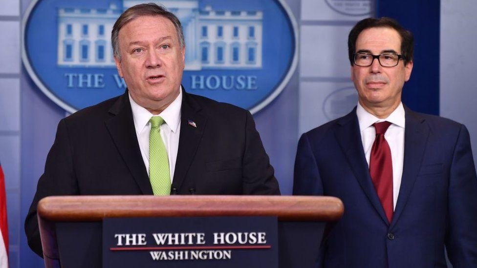 Resultado de imagen para El secretario de Estado, Mike Pompeo, dijo que las medidas están dirigidas hacia el corazón del aparato de seguridad iraní.
