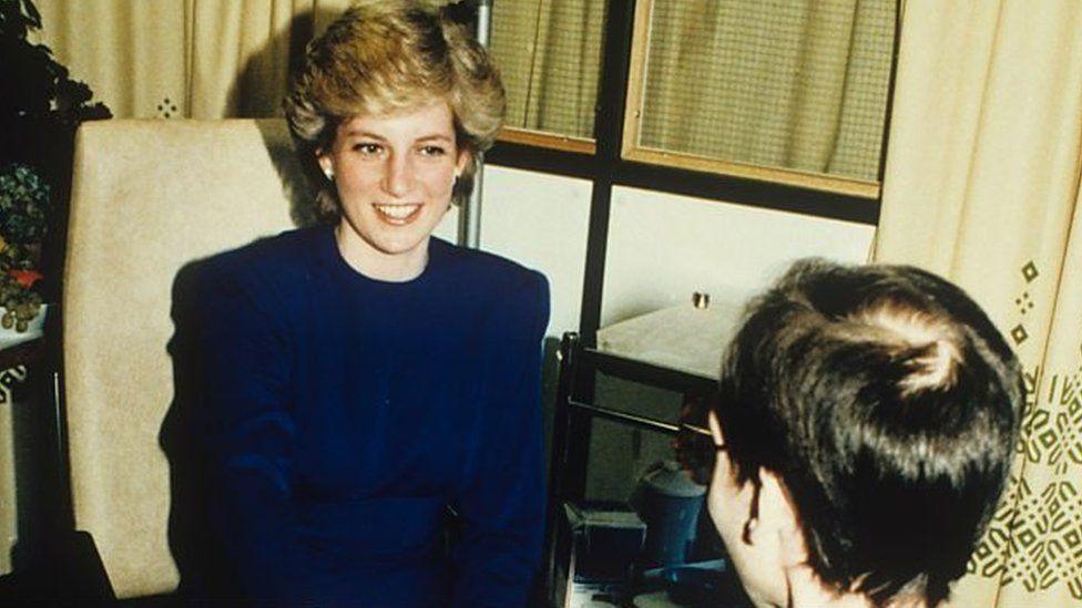 Princess Diana with an aids patient