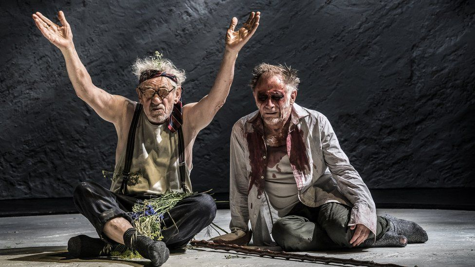 Ian McKellen as King Lear and Danny Webb as Gloucester in KING LEAR at the Duke of York's Theatre