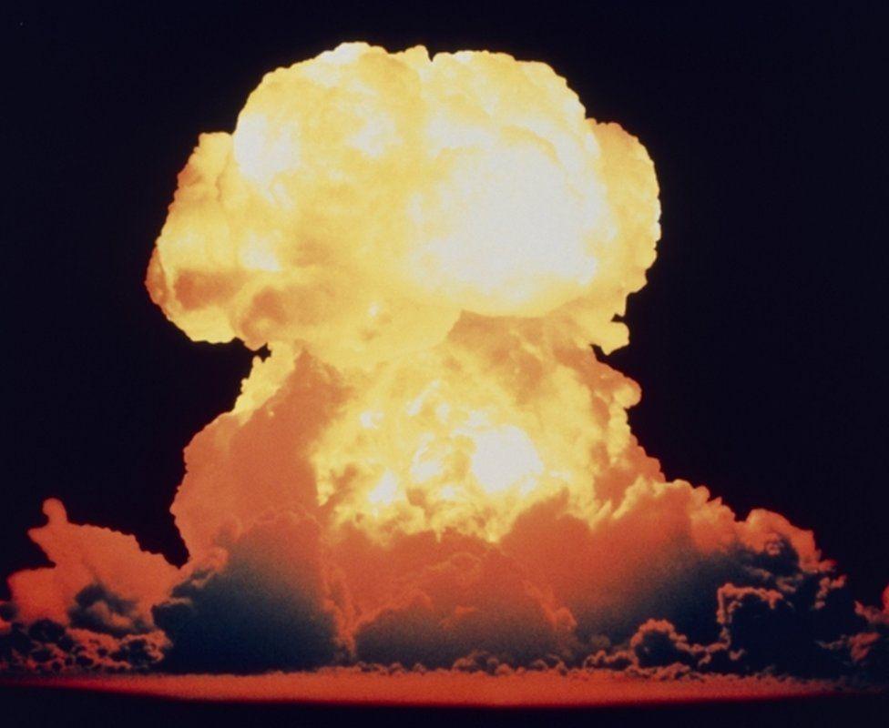 Hydrogen bomb explosion in Bikini Atoll May 1956