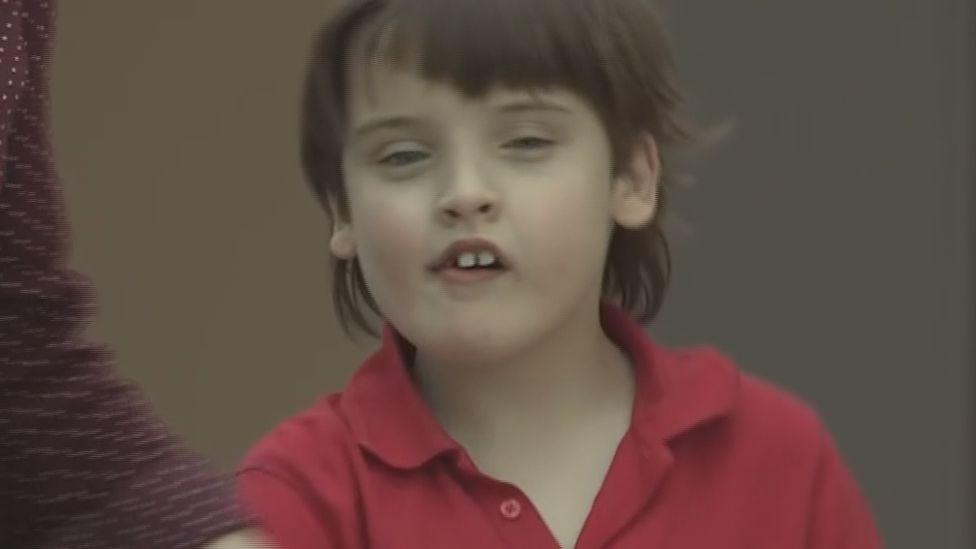Aaron at the Royal Blind School in Edinburgh