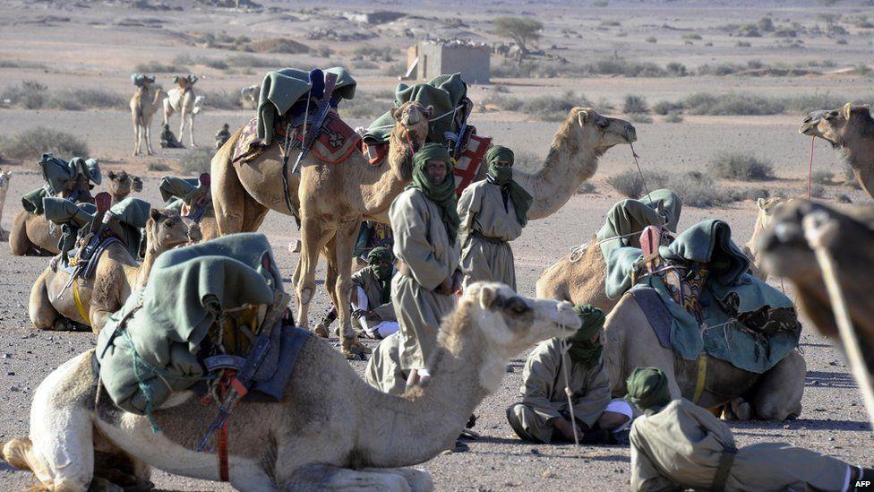 Polisario rebels in Western Sahara