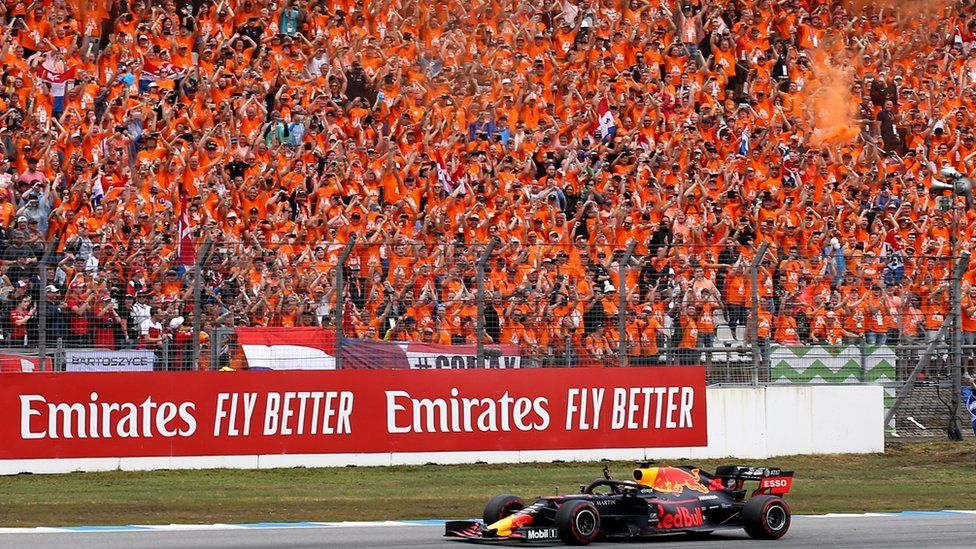Max Verstappen fans at the German Grand Prix of 2019