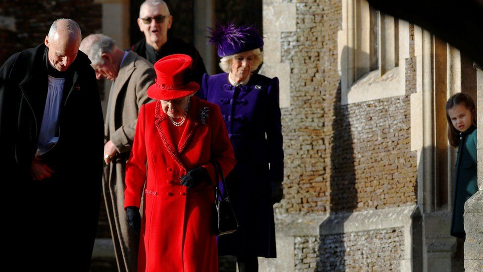 The Queen was not accompanied by her husband, Prince Philip