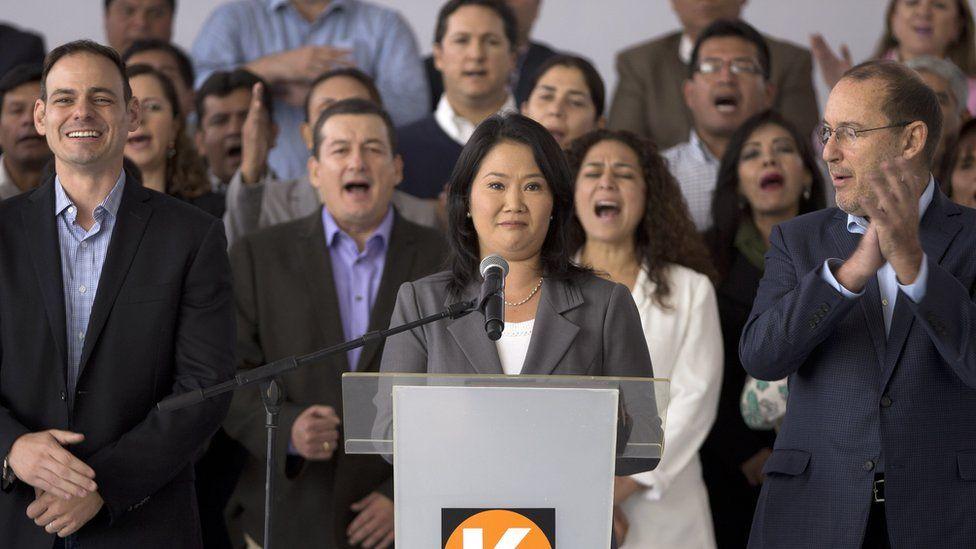 Keiko Fujimori concedes in presidential election in Lima, Peru, Friday, June 10, 2016