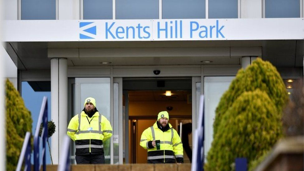 NHS staff at Kents Hill Park in Milton Keynes