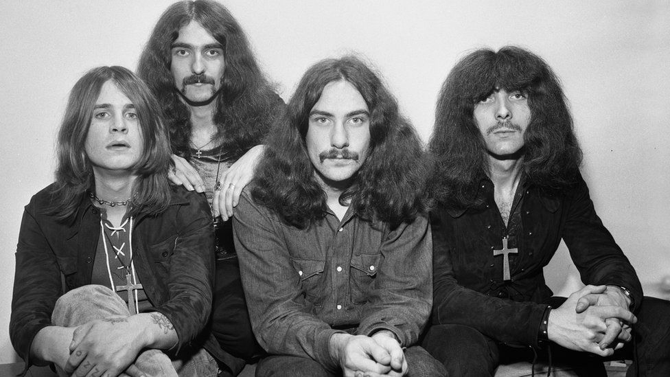Ozzy Osbourne, Geezer Butler, Bill Ward and Tony Iommi in September 1970