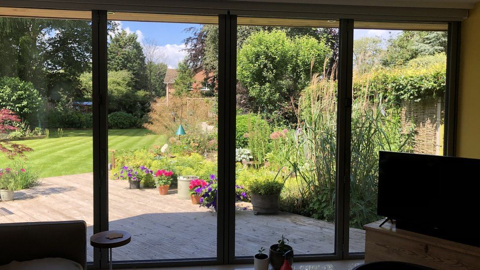 Triple-glazed doors in Colin Heal's house