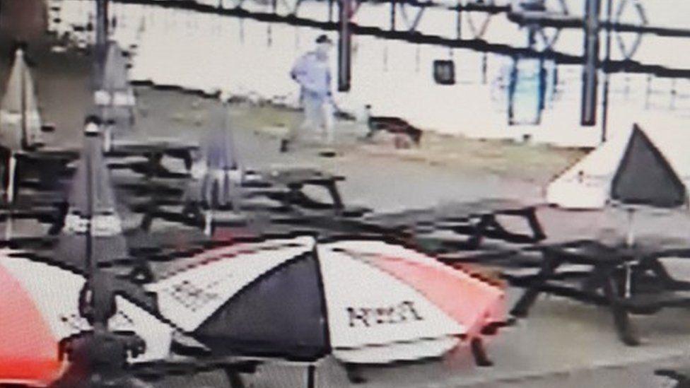 Dog walker on CCTV footage