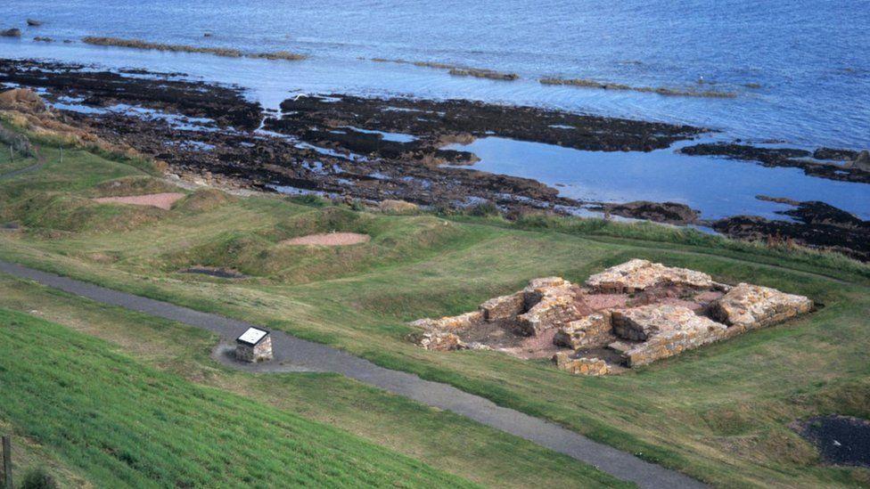 Salt pan remnants in St Monans